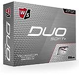 Wilson Staff, Bola de golf DUO Soft, 2 capas, Para máxima distancia, Pack de...