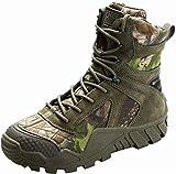 FREE SOLDIER Uomo Militare High-Top Scarpe da Escursionismo Stivali con Lacci Lavoro di Combattimento tattico all Terrain Stivali Impermeabili 3 Colori, Camouflage, 39