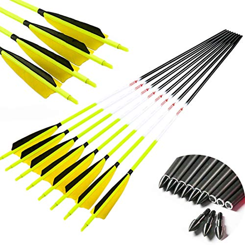 Linkboy Archery Carbon Arrows Hunting Practice Target...
