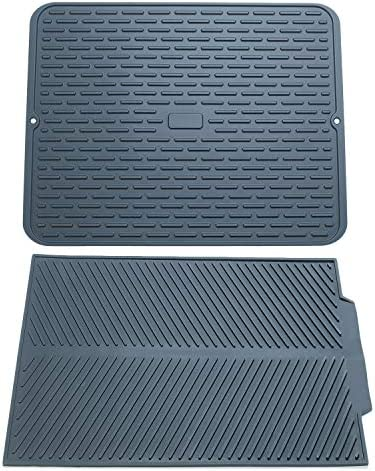 To encounter Silicone Dish Drying Mats 17 x 13 Set of 2 Silicone Dish Draining Pad Large Kitchen product image