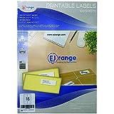 EJRange Nuevas etiquetas adhesivas para direcciones fáciles de despegar, 16...