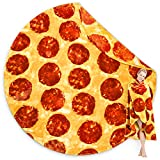 Jekeno Pizza Blanket 2.0 Double Sided 300 GSM Throw Blanket Soft Warm Comfortable Pepperoni Pizza Blanket for Adult Kids Travel Home 60 inch