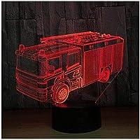 giyiohokクリエイティブ3Dナイトライトランプ7色変更LEDタッチUSBテーブルギフト子供のおもちゃの装飾装飾クリスマスバレンタインデーギフト誕生日プレゼント-N3-N34