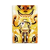 OIUER Fondos De Pantalla De Naruto Shippuden Póster decorativo lienzo para pared, sala de estar, dormitorio, 20 x 30 cm