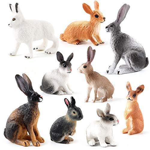 SUCHUANGUANG Gesimuleerde dierentuin actie figuur boerderij konijn model speelgoed voor kinderen kinderen leuke mini een hanger
