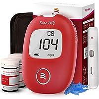 Medidor de glucosa en sangre - Safe AQ Smart - Kit de control de diabetes Kit de prueba de azúcar en sangre Sin codificación con 50 tiras de prueba de glucosa en sangre mg/dL