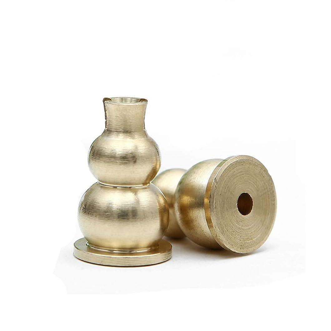 ハント仮定する計算するafzshg真鍮Mini Incense Holder and Sticksお香バーナーホルダーGourdシェイプイエロー