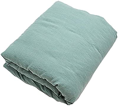 LinenMe Spa Green Stone Washed Bed Linen Duvet, Marine Blue