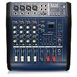 Yongse EL M PMX402D-USB 48V 4 Channel USB KTV Karaoke Audio Stage Mixer with Power Amplifier