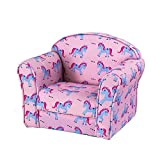 Panana Solid Kids Children's Upholstered Armchairs Girl Boy Bedroom Playroom Seating Chair (Unicorn)
