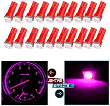cciyu 20 Pack T5 73 74 Dashboard Gauge 5050SMD LED Wedge Light Bulb Fits 2005-2007 GMC Sierra 1500 1500 HD Yukon Yukon XL 1500 Sierra 1500 1500 HD 2500 HD 3500 (20pack pink)