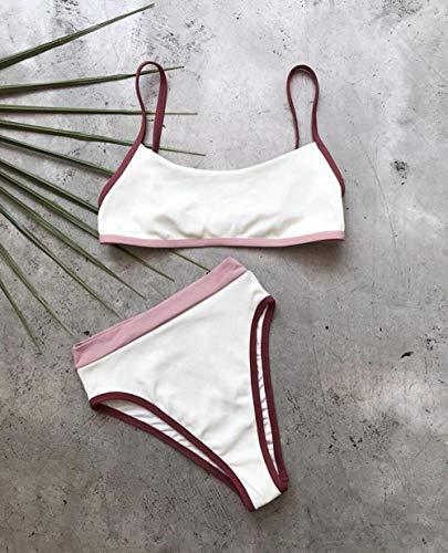 Bikini Badeanzug Damen High Waist Bikini Badeanzug Frauen Bademode Push Up Halfter Bikini Set Baden Badeanzug Beach Wear L 1