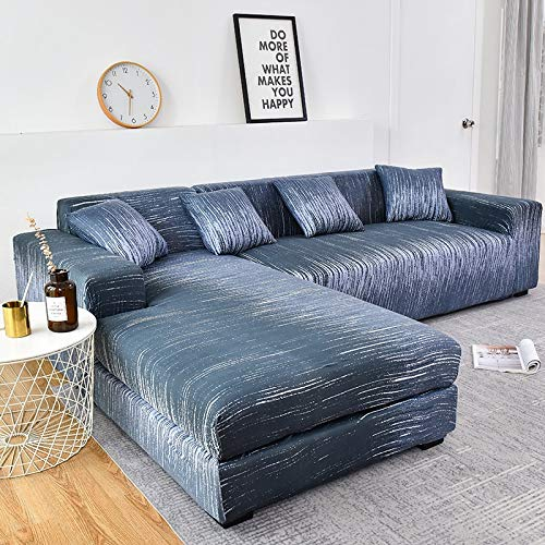 WXQY Funda de sofá de Necesidad en Forma de L Funda elástica de algodón Funda de sofá sofá de Dos plazas combinación de Esquina Funda de sofá de Sala de Estar A18 2 plazas