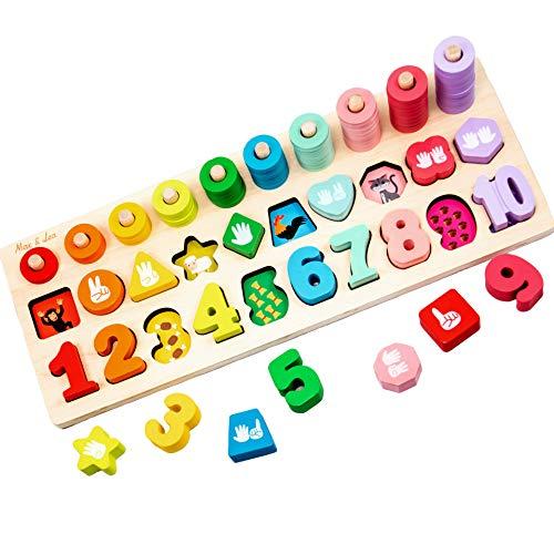 Max & Lea MXLA-PLABOA-0001 PlayBoard Montessori Lernspielzeug aus Holz