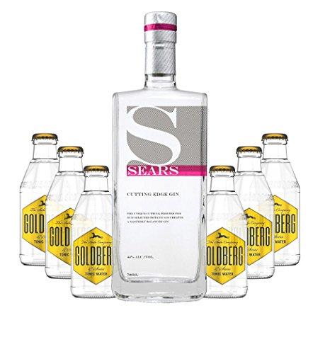 Sears - Cutting Edge Gin-Set 44% - 0,7l inkl. 6xGoldberg Tonic und Pfand