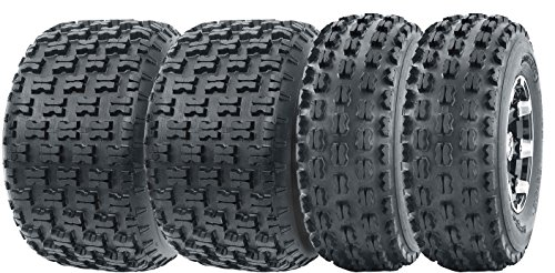 Full Set WANDA Sport ATV Tires 21x7-10 & 20x10-9 Yamaha Raptor 350 660 700