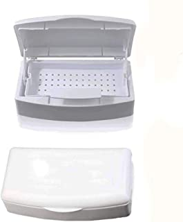 BQAN Nail Disinfectant Tray, Nail Art Tool Beauty Implement Sterilizing Tray, Disinfection Clean Sterilizer Box, Storage Box Case Organizer for Cutter Manicure Salon Tools Set