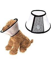 Mogokoyo Cono per Animali Domestici Recupero Collare Regolabile in ABS per Cani e Gatti di Piccola (Collo: 32-34cm;profondità: 13,3cm)