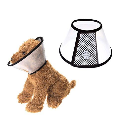Mangostyle Collare Elisabettiano Collare Protettivo Forma Cono per Cane Gatto Ferita Recupero Guarigione E-collare anti morso o leccata - Taglia 7