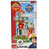 Simba 109252133 - Feuerwehrmann Sam Leuchtturm mit Figur 40 cm -