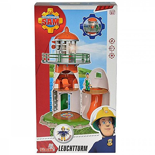 Simba 109252133 - Feuerwehrmann Sam Leuchtturm mit Figur 40 cm