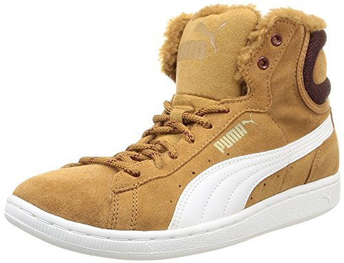 Puma Puma Vikky Mid Marl, Damen Hohe Sneakers, Braun (chipmunk brown-white 03), 37 EU (4 Damen UK)