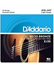 D'Addario ダダリオ アコースティックギター弦 80/20ブロンズ Light 12弦 .010-.047 EJ36 【国内正規品】