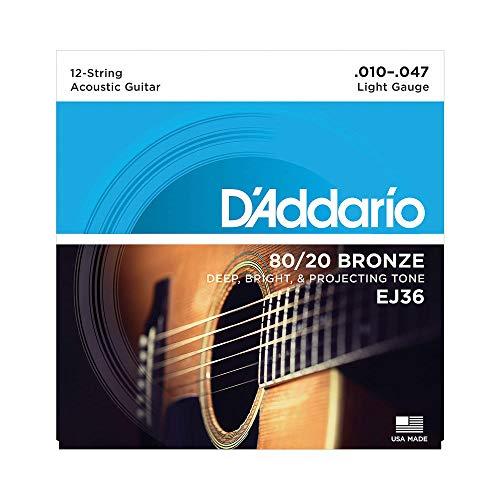 D Addario EJ36 Set Corde Acustica EJ 80 20 BRZ RND WND