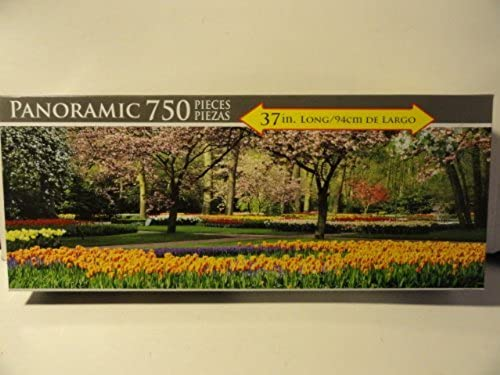 Keukenhof Gardens, Lisse , Holland Panoramic Puzzle (750 Pieces) by LPF Limited