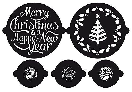 Susis Fashion Shop Torte e Cupcake Stencil Merry Christmas Natale 5teilig