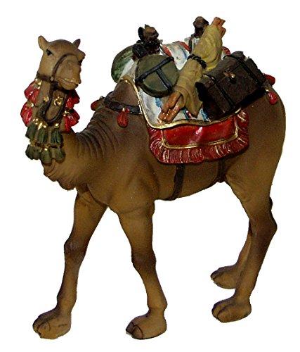 Kamel mit Sattel und Gepäck für Weihnachtskrippe Krippenfiguren Krippe für 12 cm Figuren