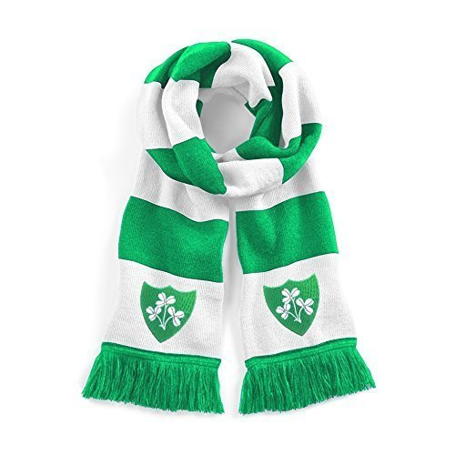 Retro Republik Irland 1970s traditionell Fußball-Schal gesticktes Logo