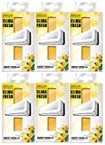 Areon Clima Fresh Lufterfrischer süß Vanille Haus Klimaanlage Original Geruch Gelb Haus Wohnzimmer Büro Geschäft (6er Pack)