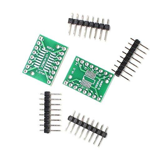 Verwisselbare Accessoires LDTR-YJ032 / C Dual-Side SOP16 / SSOP16 / TSSOP16 SMD DIP Adapter Board met Vergulde Pin Header (2 stuks) Accessories