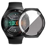 sciuU Cover Protettiva per Huawei GT 2e (Uscita 2020), Custodia con Protezione di Schermo in TPU Flessibile, Morbida Copertura Cornice Resistente per Smartwatch Huawei GT 2e - Nero