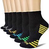 BERING Women's Quarter Ankle Athletic Running Socks (6 Pairs)