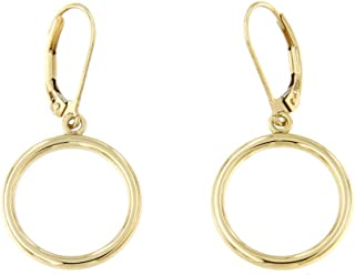 forme di Lucchetta per Donna - Collana o Orecchini in Oro Giallo con Cerchi Intrecciati