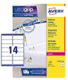 Avery L7163-100 Etichette per indirizzi per buste, 14 Pezzi per Foglio, 100 Fogli, 99.1 x ...