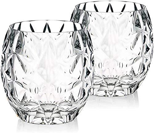 Vasos Juego de 2 vasos de cristal de whisky cata de whiskyBourbonCocktailirrompible