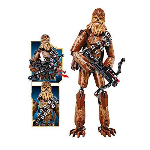 WUHAO Star Wars Chewbacca Montaje Robot Building Blocks Decoración Cumpleaños Arte Modelo Regalo Movia Muñeca Muñeca Estatua Colección Juguete 24 Cm
