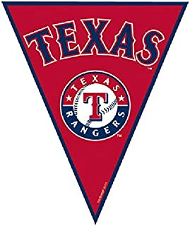 """Texas Rangers Major League Baseball Collection"" Pennant Banner, Party Decoration"