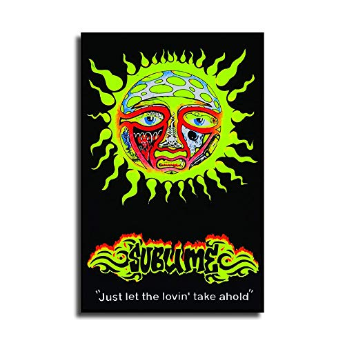 heshunxing Sublime Sun - Just let The Lovin' take ahold Blacklight Poster Canvas Art Poster and Wall Art Picture Print Modern Family Bedroom Decor Posters