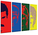 Poster Fotográfico Queen, Freddie Mercury Tamaño total: 131 x 62 cm XXL
