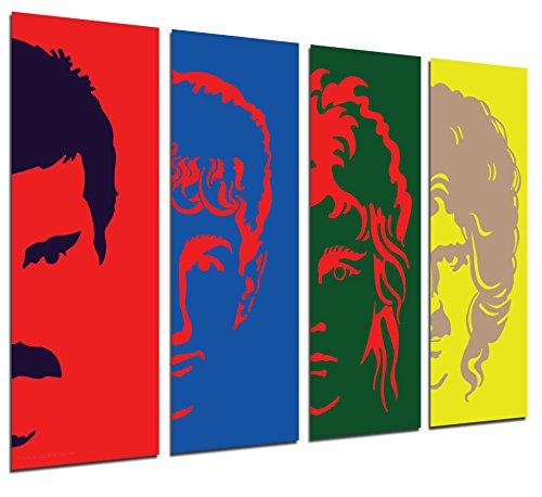 Cuadro Fotográfico Queen, Freddie Mercury Tamaño total: 131 x 62 cm XXL