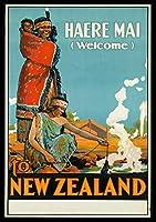ポスターニュージーランド旅行ヴィンテージレトロ印刷
