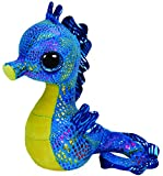 Ty - Peluche Caballito de mar, 15 cm, Color Azul y Amarillo (United Labels...