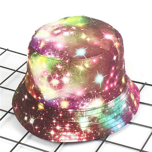New Star hoed visser zomer buiten op straat graffiti afdrukken bloempot cap mannen en vrouwen trend zonnebrandcrème emmer zonnehoed caps (Color : Rose red, Size : 56 58 cm)