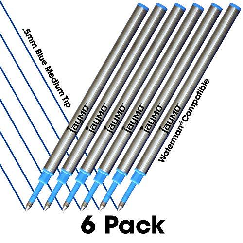 Jaymo, ricariche compatibili con penna a sfera Waterman Blue Waterman Rollerball 6