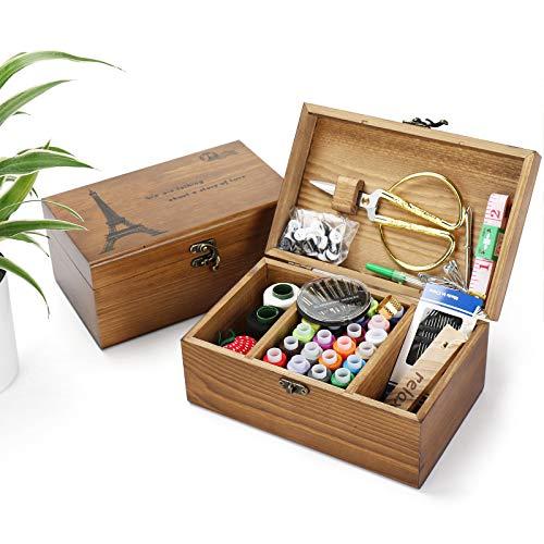 Holzsammlung Kit de Costura con más de 110 Piezas Accesorios de Costura Premium con Funda de Transporte, Portátil Casa De Coser Conjunto para Adulto Chicas Viajes a Domicilio y Uso de Emergencia #2