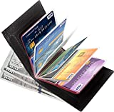 Aprince Amazing Men and Women Slim Genuine Cowhide Leather Wallet Card Case - Credit Card Protector - RFID Blocking Wallet
